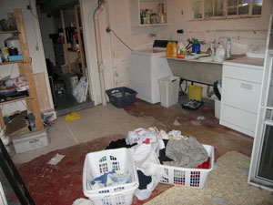 mess in laundry room