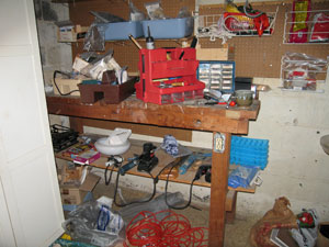 messy workbench